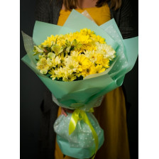 """Букет из хризантем """"Лимонный сорбет"""""""